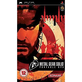 Metal Gear Solid Portable Ops PSP spil