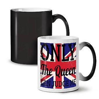 Queen Love Judge Flag UK NEW Black Colour Changing Tea Coffee Ceramic Mug 11 oz | Wellcoda