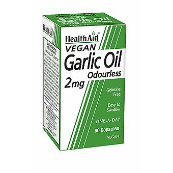 Health Aid Garlic Oil 2mg (odourless) ,  60 Vegicaps
