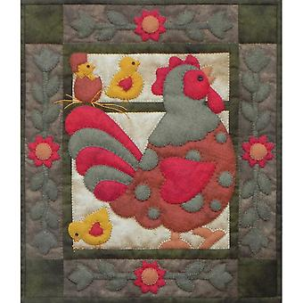 Spotty Rooster Wall Quilt Kit 13