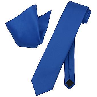 Vesuvio Napoli solide EXTRALANGE Krawatte Taschentuch Hals Krawatte Set