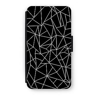 Samsung Galaxy S6 Edge Flip Case - geometrische lijnen wit