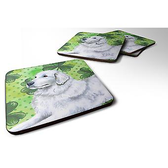 Set of 4 Maremma Sheepdog St Patrick's Foam Coasters Set of 4