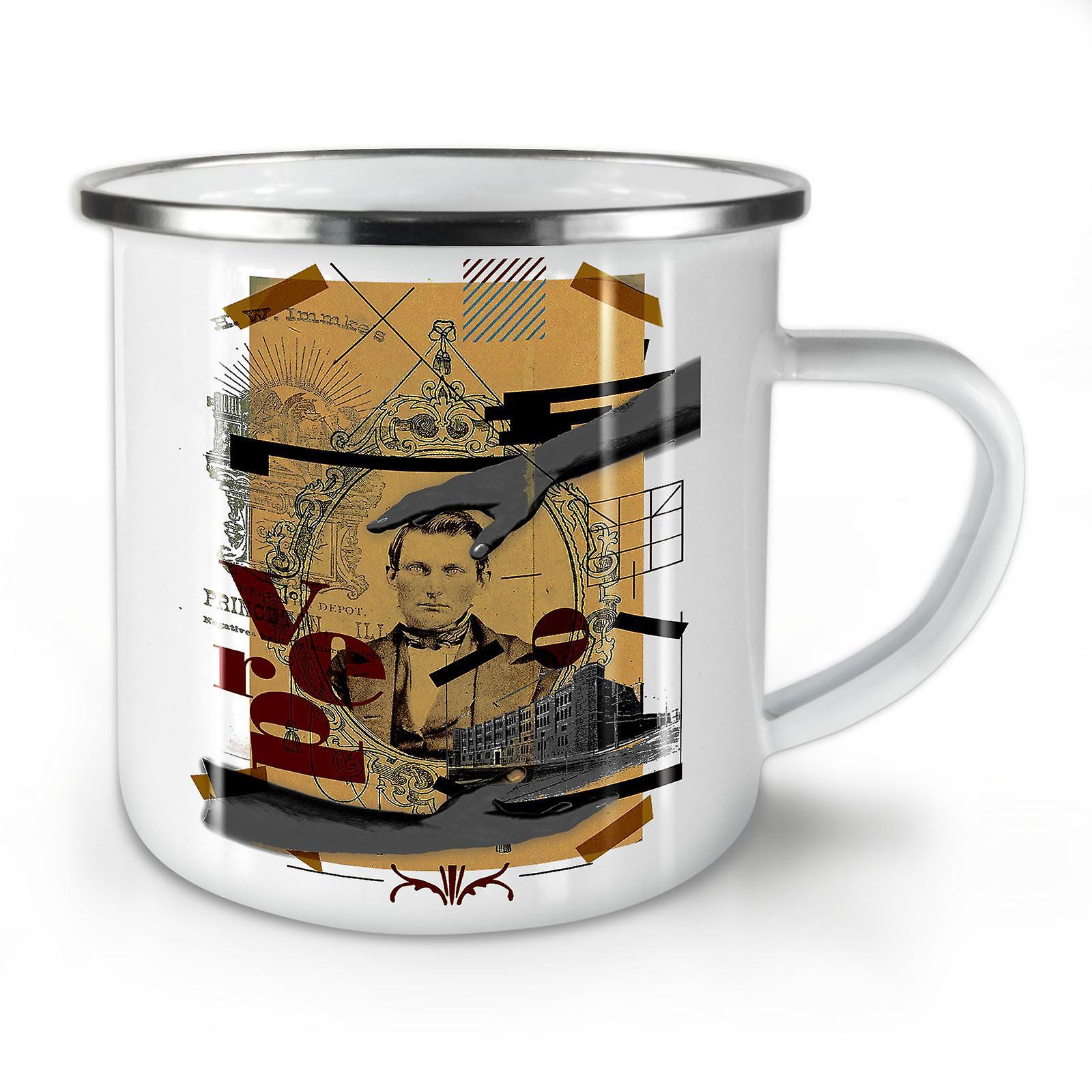Whitetea OzWellcoda Mug10 Café Émail Homme Nouveau Art Mosaique deCxBo