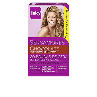 Taky Chocolate Bandas De Cera Faciales Depilatorias 12 8 Units Womens