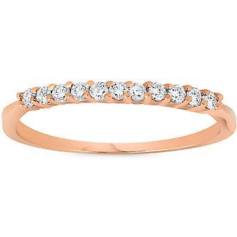 1/4ct Diamond Ring 14K Rose Gold