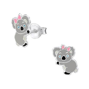 Panda - 925 Sterling Silver Colourful Ear Studs - W26491x