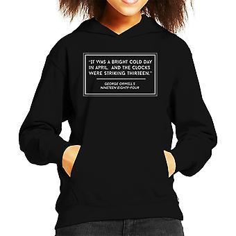 George Orwell Nineteen Eighty Four Kid er hette Sweatshirt
