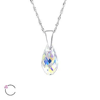 Teardrop crystal from Swarovski® - 925 Sterling Silver Necklaces - W27741X