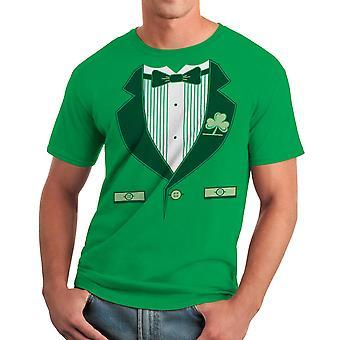 Humor Kelly Green t-shirt irlandés Tux hombres