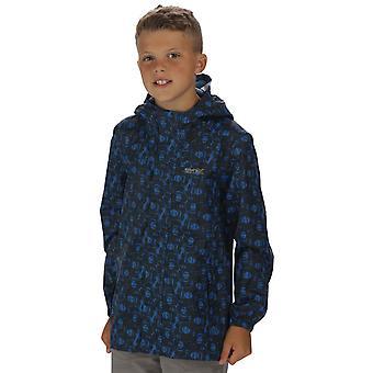 Regatta drenge & piger trykt pakke det vandtæt åndbar jakke