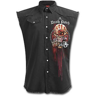Spiral - 5FDP ASSASSIN - Men's Stone Washed Distressed Look Workers Shirt