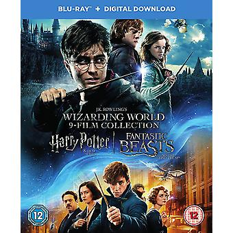 Harry Potter Wizarding World 9 Film Collection [Blu-ray] [2017] [Region Free]