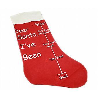 Voelde Kerst kous 70cm - lieve Santa Ive geweest goede schaal - met stok op pijl