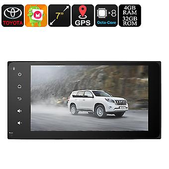2 DIN Car Stereo - Universal Toyota, 7 Inch Display, Android 8.0, Bluetooth, 3G Support, WiFi, GPS, Octa-Core CPU, 4GB RAM
