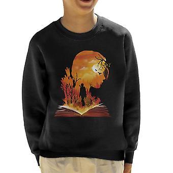Hunger Games Katniss Silhouette Sunset Kid's Sweatshirt