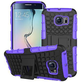 Hybrid case 2 piece SWL robot purple for Samsung Galaxy S6 edge plus SM G928 F