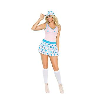 Des Moments élégants Womens Plus Taille Golf Tease Caddy Girl Costume Halloween Roleplay