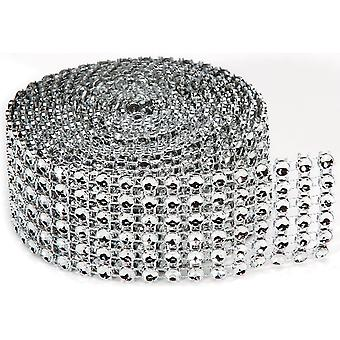 Bling On A Roll 4mmX2yd-6 Rows, Silver