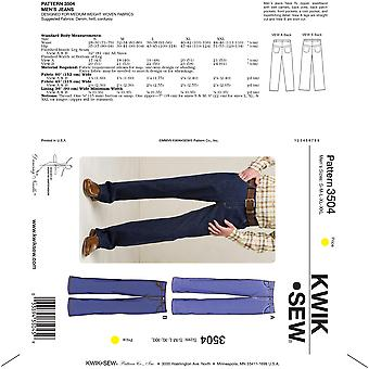 Jeans-S-M-L-XL-XXL -*SEWING PATTERN*