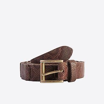 Fabio Giovanni Novali Belt - Python Print Belt - High Quality Italian Belt