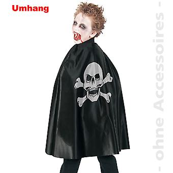 Pirate Cape kids cloak costume Halloween skull skeleton skull child costume