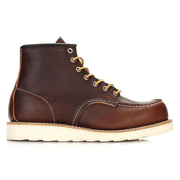 Slick Wing Mens Boots Toe Moc Oil Briar Inch Shoes Red 6 XwqF44