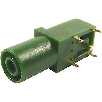 Cliff FCR7350G Safety jack socket Socket, right angle Pin diameter: 4 mm Green 1 pc(s)