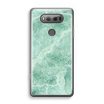 LG V20 Transparent Case - Green marble