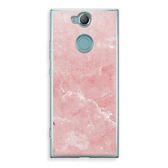 Sony Xperia XA2 Transparent Case (Soft) - Pink Marble