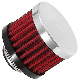 K&N 62-1340 Vent Air Filter / Breather: Vent Air Filter/ Breather; 0.625 in (16 mm) Flange ID; 1.5 in (38 mm) Height; 2