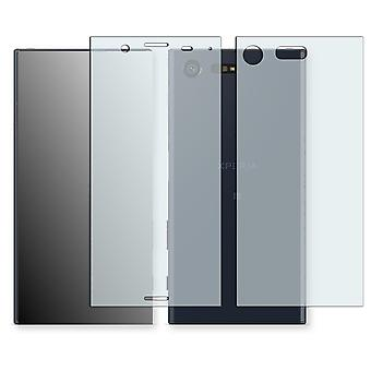 Sony Xperia X compact display protector - Golebo crystal-clear protector (1 front / 1 rear) (deliberately smaller than the display, as this is arched)