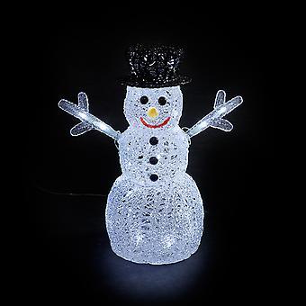 Führende Dekorationen - 40cm Netz betriebenen Indoor & im freien Acryl Schneemann Weihnachten Abbildung 40 Cool White LED-Leuchten
