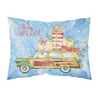 Merry Christmas Corgi Fabric Standard Pillowcase
