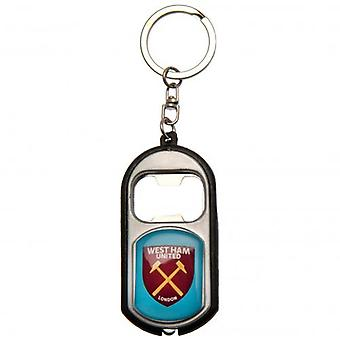 West Ham United nyckelring ficklampa flasköppnare