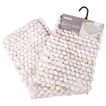 Luxe Bathroom Juno Bath Mat, Natural