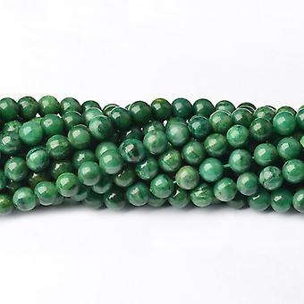 Strand 40+ Green African Jade 8mm Plain Round Beads CB39946-3