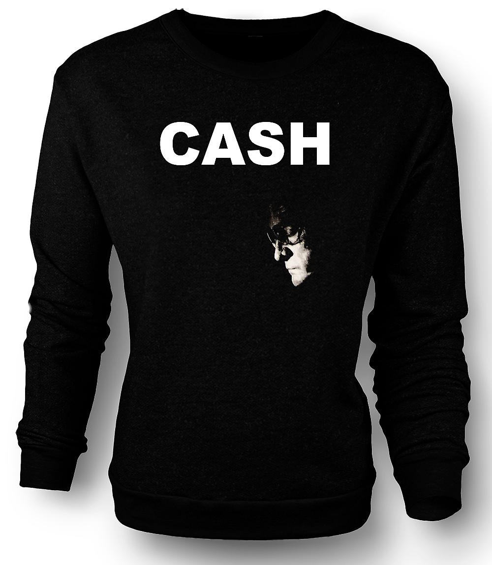 Mens Sweatshirt  Johnny Cash - Hurt - Man In Black