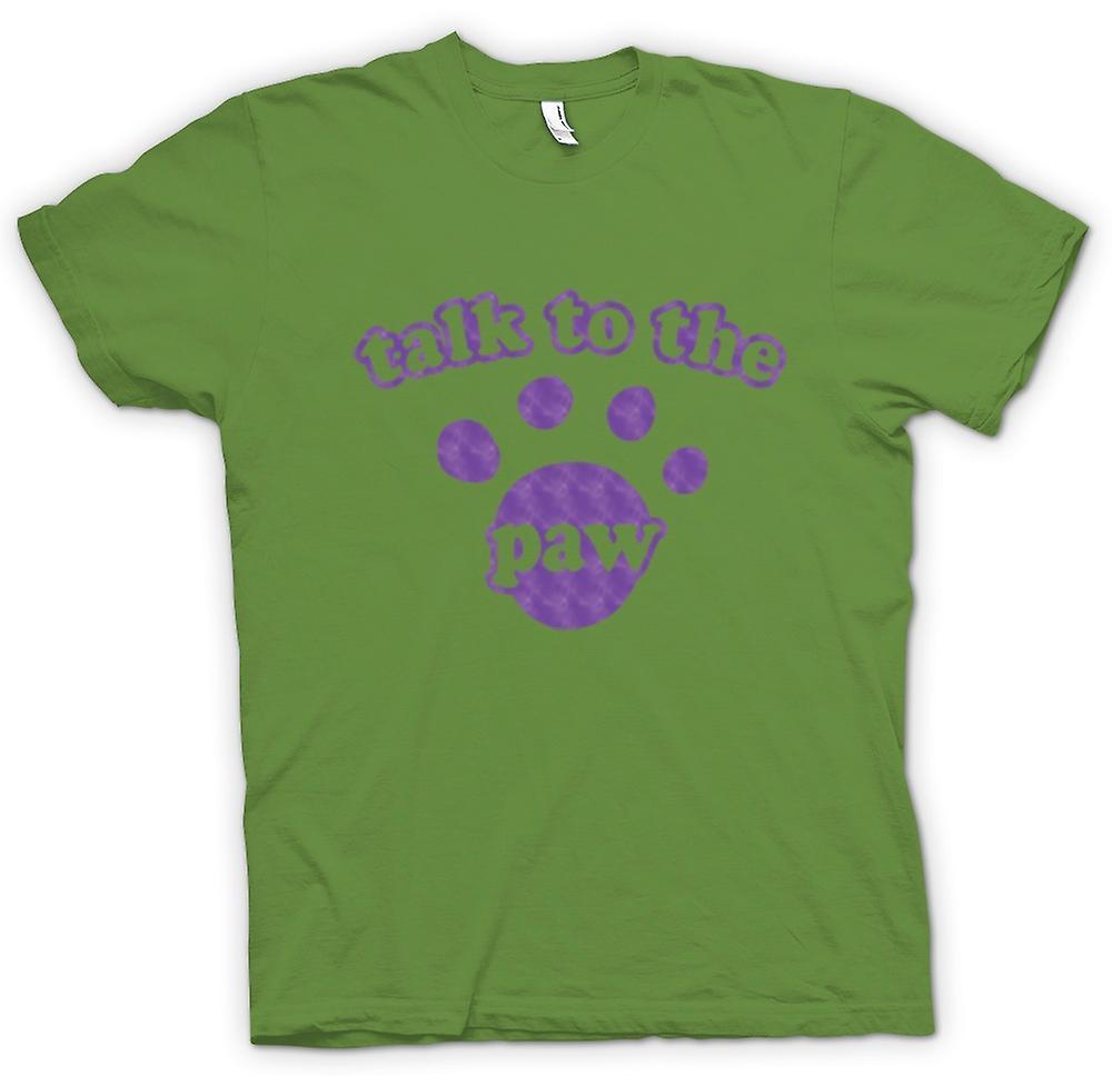 Mens T-shirt-« Parler à la patte » chien chat