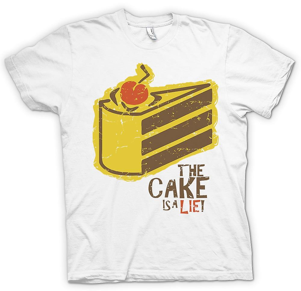 Mens T-shirt - The Cake Is A lie - Portal Inspired
