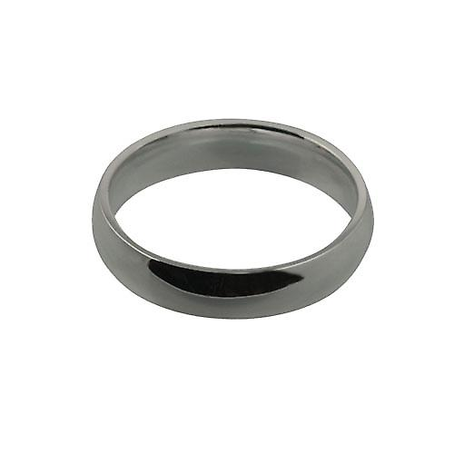 18ct White Gold 5mm plain Court shaped Wedding Ring