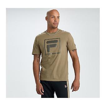 Fila Alexis Tonal Twill T-shirt In Dry Grass