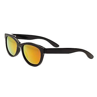 Bertha Carly Buffalo-Horn Polarized Sunglasses - Black/Gold
