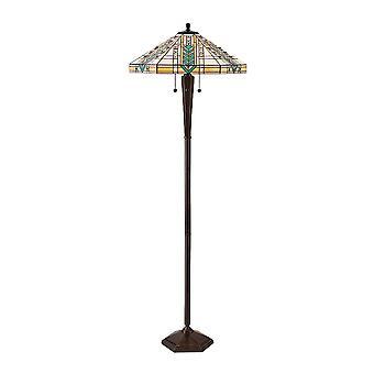 Lloyd Tiffany stil antik Patina golvlampa - interiör 1900 70667