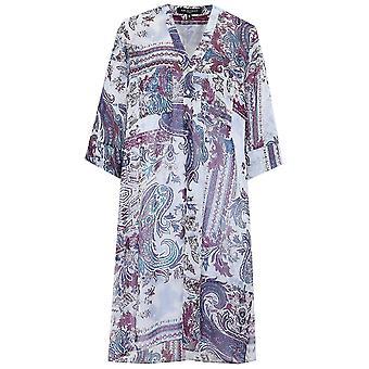 Ilse Jacobsen Chiffon Paisley Shirt Dress