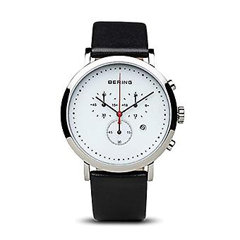 Montre à quartz homme Bering montre chronographe avec cuir 10540-404