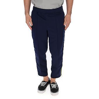 Comme Des Garçons Blue Polyester Pants