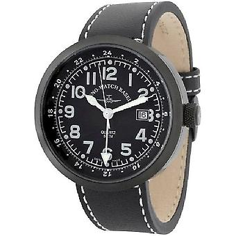 Zeno-Watch Herrenuhr Rondo (Dual Time) black B554Q-GMT-bk-a1