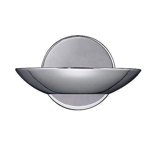 Searchlight 2107CC Modern Chrome Halogen Uplighter Wall Light