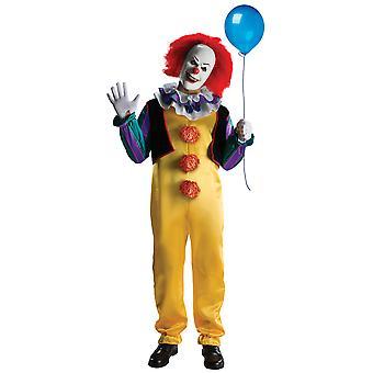 Pennywise het de mannen film Deluxe Horror Clown Halloween kostuum
